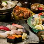 すし処 きた浜 - 旬寿司毛ガニ海鮮コース
