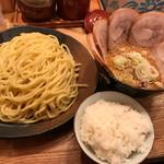 60333372 - 味噌つけ麺チャーシュートッピング                       ライス無料