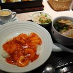 東天閣 - 丼セット(\920)