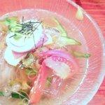 炭火焼肉 だい苑 - 冷麺 生姜の利いた塩味系のスープが(゚∀゚)=3ウマー