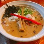 拉麺 札幌ばっち軒 - 醤油ラーメン700円+煮玉子100円