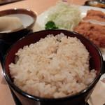 瞬彩 - 玄米ご飯(ランチ ミルフィーユとんかつ定食)