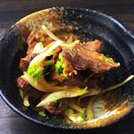 とりビアー - 砂肝ぽん酢