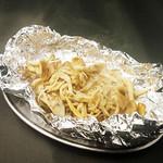 とりビアー - キノコのホイル焼き