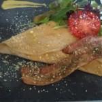 カフェ ド ラフェット - ベーコンのガレット