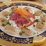 レストラン山水 - 帆立貝柱のカルパッチョ