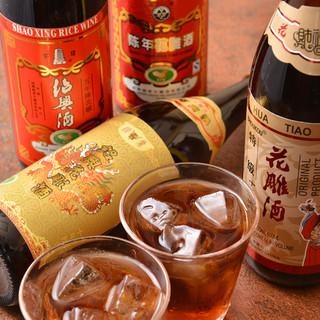 【ドリンク類も充実】年代物の紹興酒や、高級中国茶も◎