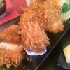 とんかつ大志 - 料理写真:手前からロースカツ、カキフライ、アジフライ