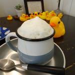 カフェ パンプルムゥス - カプチーノ   豆乳で