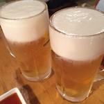 ホルモン大豊 - ビール