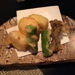 松吟庵 - 白子豆腐の天ぷら