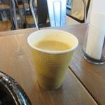 べびーしょこら - セットの飲み物はホットコーヒーに、後からせっかくだったら豆乳ラテにした良かったかなとちょっと後悔しました。