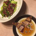 七隈園 - レバーを炙って食べます。これが最高⤴︎