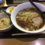 三吉 - らー麺セット(ラーメン+半炒飯) ¥650