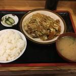 糸仲 - 料理写真:カレー味焼きそば定食