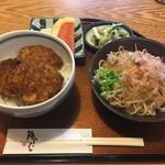 福そば - ミニソースカツ丼とミニおろし蕎麦のセット
