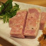 日本酒 室 - パテドカンパーニュは唐辛子味噌と合わせて
