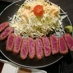 肉十八番食堂 - 牛カツ