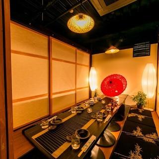 大宮駅1分!!和の趣き溢れる落ち着いた雰囲気の完全個室居酒屋