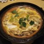 清瀧 - 牡蠣とネギの玉子とじ