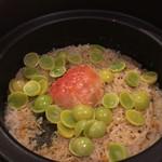 60381074 - 蟹と銀杏の炊き込みご飯。