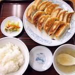 ぎょうざの満洲 - ダブル餃子定食大盛600円