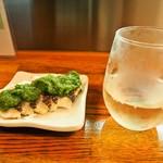 エノキ屋酒店 - 鯛のタタキ & あさ開 純米新酒