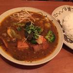 チャハヤ - 角煮ベジタブル 2辛 スープ大盛