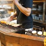 千亀 - 店内:焼き場