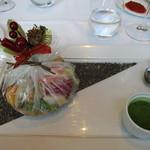 アルカナ 東京 - メイン:野菜料理(冬野菜のカルタフャタ包み焼き)