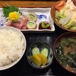 酒場三晴 - ネギトロ定食750円