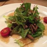 Paff - 前菜☆。.:*・゜ 鶏とキノコのバルサミコマリネ サラダ仕立て