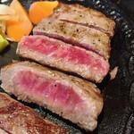 牛楽 - 国産牛黒毛和種  亀岡牛ステーキランチ                           リブロース 130g