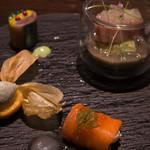 メゾン ルパン ミュラ - 秋を盛り込んだ小さな前菜の盛り合わせ