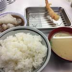 天麩羅処ひらお - 料理写真:お好み定食(ご飯大盛り&大根おろし増し)