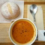 スープストックトーキョー - オマール海老のビスク 朝のスープセットで。