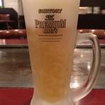櫓家 - 生ビール500円 キンキンに冷えててうまい!