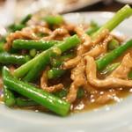 順香 - ニンニク芽と豚炒め