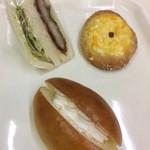 杉村ベーカリー - オススメの3パン!カツサンド、たまごパン、ダブルクリームパン!