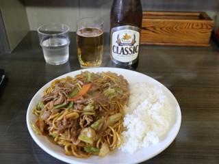 焼そば ランラン - ジンそばライス大盛り(900円)