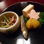 豆水楼 祇園店 - 前菜(京菜コース)