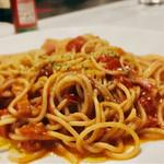 MUSHROOM - 完熟トマトとモッツアレラパスタ