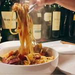 MUSHROOM - オススメメニュー:温野菜スープパスタ。ベーコンギッシリで美味しい