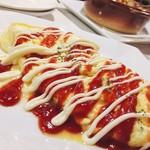 MUSHROOM - オススメメニュー:紅白プレーンオムレツ。これが一番美味しかったなー
