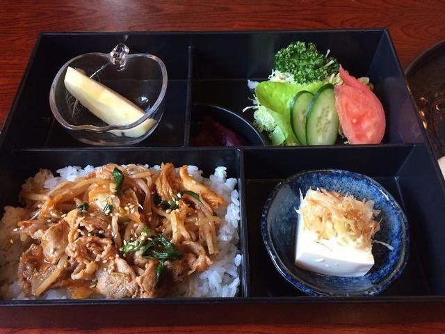 はっぽうや - ミニ丼(豚キムチ)290円