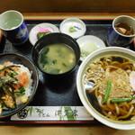 津多家 - 料理写真:ミニ海鮮丼セット ¥950-