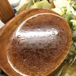 麺家なりた - 【2016年11月】ソース焼きそばラーメン、スープアップ。