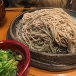 御陵院 香雅 - あつもり蕎麦(大盛り)と追加用の生卵