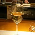 浪速割烹 喜川 - グラスシャンパン
