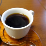 羅苧豆 - モーニングAトーストセット500円のホットコーヒー